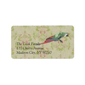 Vintage Majestic Macaw Label