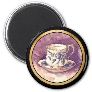 Vintage makeover - Cup & Saucer Magnet