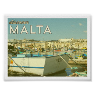 Vintage Malta Poster