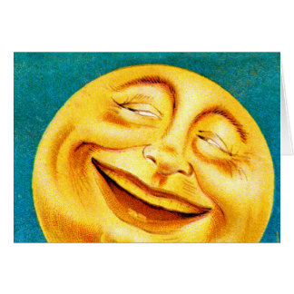 Vintage Man in the Moon Happy Moon Greeting Card