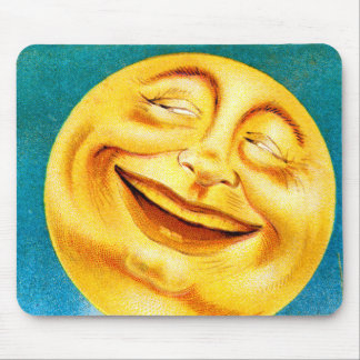 Vintage Man in the Moon Happy Moon Mouse Pad