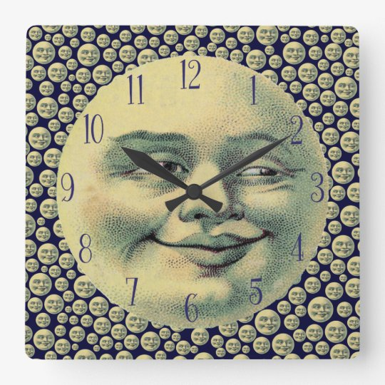 Vintage Man in the Moon Wall Clocks