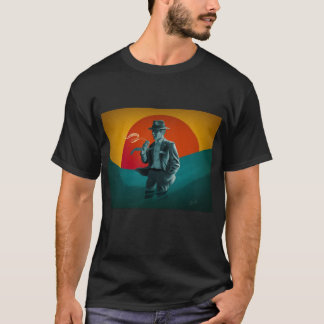 Vintage Man Retro Black T-Shirt