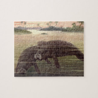 Vintage Manatees or Sea Cows, Marine Mammals Jigsaw Puzzle