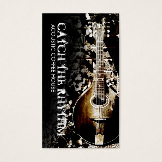 Vintage Mandolin Acoustic Business Card