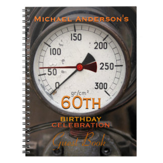 Vintage Manometer 60th Birthday Guest Book