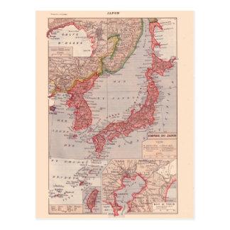Custom Vintage Japan Postcards Zazzleca - Japan map 1920