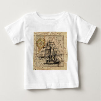 Vintage Map and Ship Baby T-Shirt