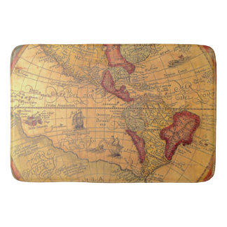 Vintage Map Bath Mat