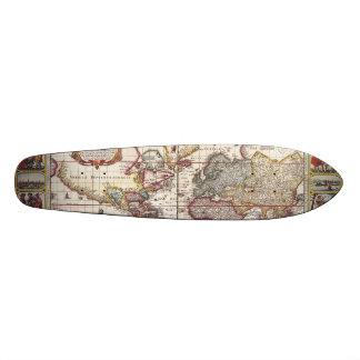 Vintage Map & Characters Claes Janszoon Visscher Skateboards