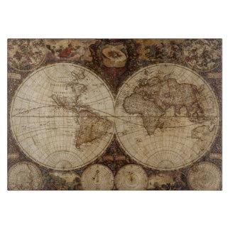 Vintage Map Cutting Board