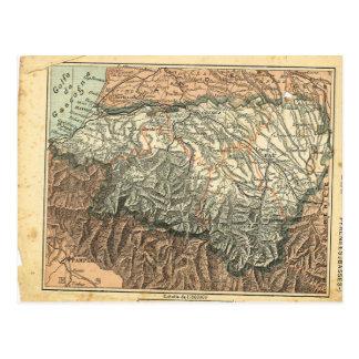 Vintage map France  Pyrenees Basse Postcard