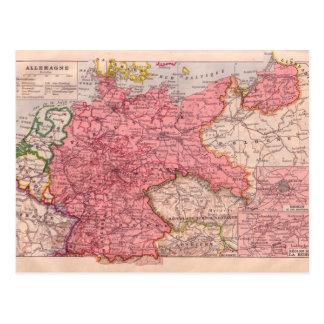 Vintage map,   Germany circa 1920 Postcard