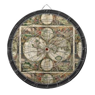 Vintage Map Multi-Target Dartboard