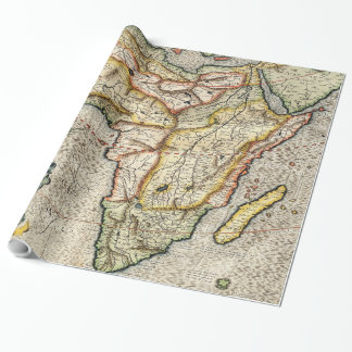 Vintage Map of Africa (1596) Poster Wrapping Paper