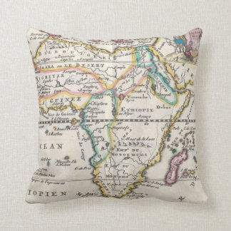Vintage Map of Africa (1710) Throw Pillow