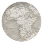 Vintage Map of Africa plate