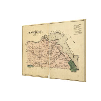 Vintage Map of Alexandria County Virginia (1878) Canvas Print
