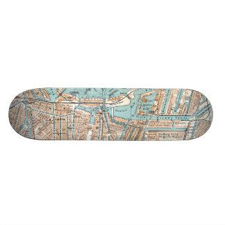 Vintage Map of Amsterdam (1905) Skateboards
