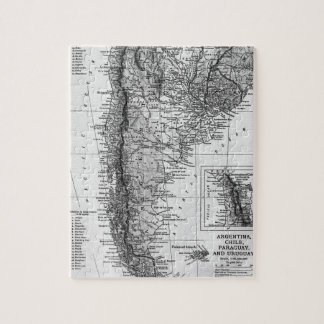 Vintage Map of Argentina (1911) Jigsaw Puzzle