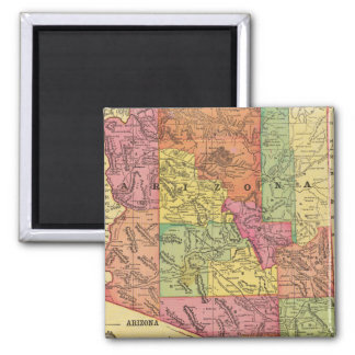Vintage Map of Arizona (1909) Square Magnet