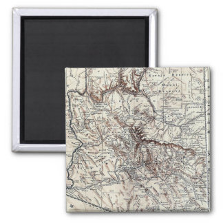 Vintage Map of Arizona (1911) Square Magnet
