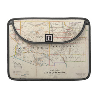 Vintage Map of Arizona and New Mexico (1866) MacBook Pro Sleeves