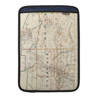 Vintage Map of Arizona and New Mexico (1866) MacBook Sleeves
