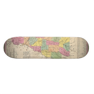 Vintage Map of Arkansas (1853) Skateboard Deck