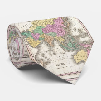 Vintage Map of Asia (1827) Tie