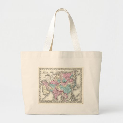 Vintage Map of Asia (1855) Canvas Bag