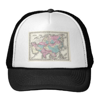 Vintage Map of Asia (1855) Mesh Hat