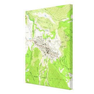Vintage Map of Aspen Colorado (1960) Canvas Print