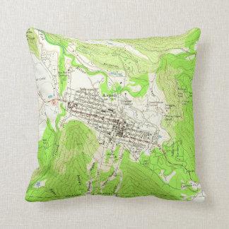 Vintage Map of Aspen Colorado (1960) Throw Pillow