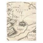Vintage Map of Athens Greece (1784) Postcard