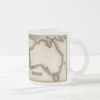 Vintage Map of Australia (1817) 10 Oz Frosted Glass Coffee Mug