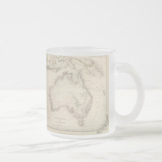 Vintage Map of Australia (1848) 10 Oz Frosted Glass Coffee Mug
