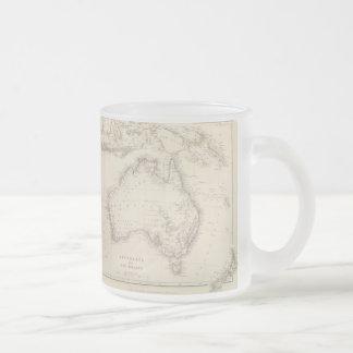 Vintage Map of Australia (1848) 10 Oz Frosted Glass Coffee Mug