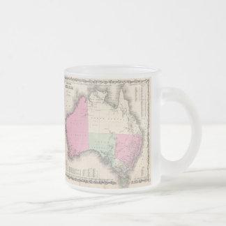 Vintage Map of Australia (1862) 10 Oz Frosted Glass Coffee Mug