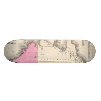 Vintage Map of Australia (1862) Skateboard Decks