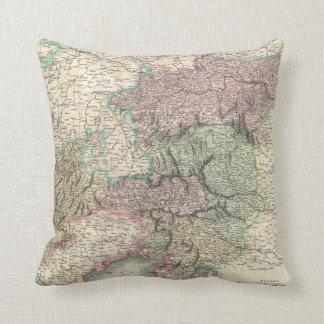 Vintage Map of Austria (1801) Throw Pillow