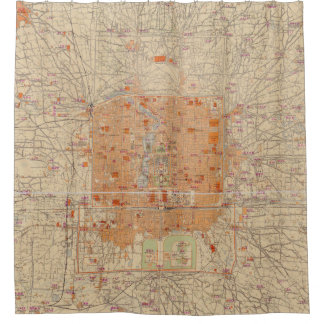 Vintage Map of Beijing China (1907)