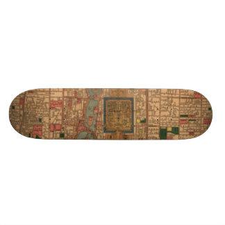 Vintage Map of Beijing China (1914) Skateboard Deck