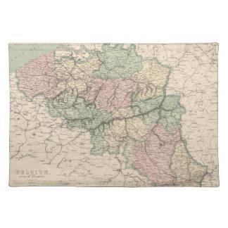 Vintage Map of Belgium (1873) Placemat