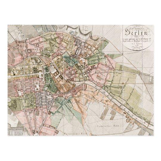 Vintage Map of Berlin (1811) Postcard