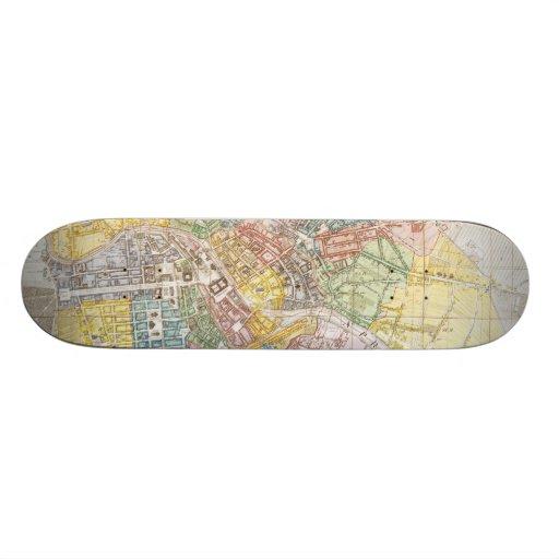 Vintage Map of Berlin (1846) Custom Skateboard