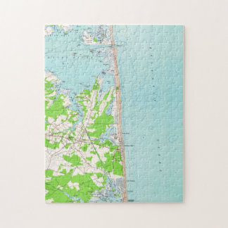 Vintage Map of Bethany Beach Delaware (1954) Jigsaw Puzzle