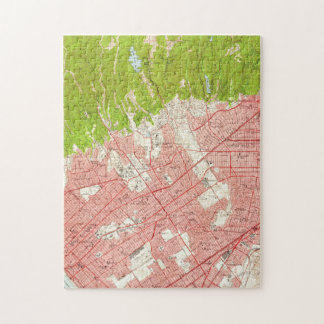 Vintage Map of Beverly Hills California (1950) Jigsaw Puzzle