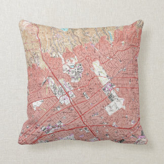 Vintage Map of Beverly Hills California (1950) Throw Pillow