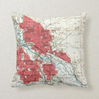 Vintage Map of Boise Idaho (1954) Throw Pillow